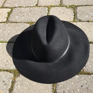 Merona black wool fedora hat